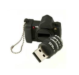 Wholesale Memory Flash Drive Camera - Mini Silicone Camera Model Model USB 2.0 Flash Drive XMAS Gift 64GB 16GB 32GB Pen U Stick Memory Full Capacity For PC 64GB 128GB 256GB