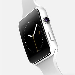 Wholesale New Age - 2017 new Curved Screen X6 Smart Watches Bracelet Phone With SIM TF Card Slot With Camera For iPhone Samsung