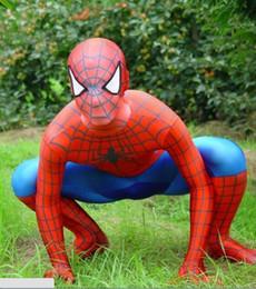 2019 zentai unisex oro catsuit (all'ingrosso / dettaglio) zentai leica rosso e blu spider-man spidey svolge il ruolo di film in costume