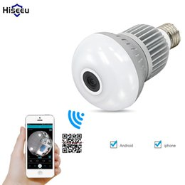 Wholesale Wired Mini Bulb - 960P 360 degree Wireless Bulb Light IP Camera Wi-fi FishEye VR Mini CCTV Camera 1.3MP Home Security WiFi Camera Panoramic hiseeu