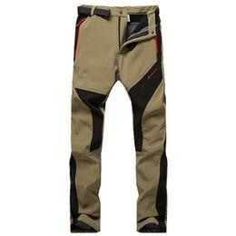 Wholesale Fleece Outdoor Pants - Wholesale-outdoor waterproof windproof Trousers Man Woman Hot medium thickness , assault pants , men warm Fleece Trousers male