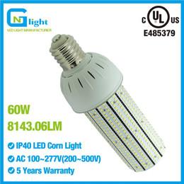 Wholesale 175 Led - 175 watt Mercury Vapor Lamp CFL replacements E40 60W LED corn cob lamp 135LM W light bulbs E39 mogul base parking lot light