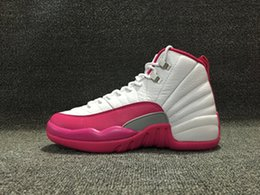 Wholesale Womans Sports - Wholesale RETRO 12 basketball shoes 12 XII 12s DYNAMIC PINK VALENTINE 12's sports Shoes womans sneaker Taxi Playoffs Shoes With Box dropping