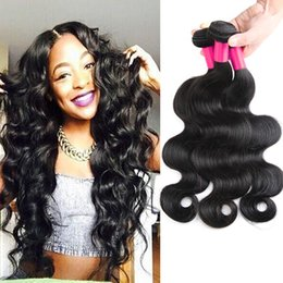 Wholesale Processed Peruvian Hair - 7A Malaysian Peruvian Indian Brazilian Virgin Hair Unprocessed Human Hair Weft Weave Body Wave 3pcs Hair Extensions Brazilian Bundles