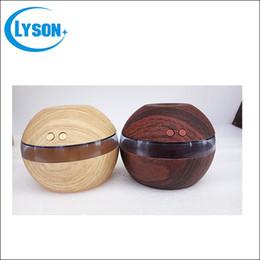 Wholesale Cool Mist Ultrasonic Impeller Humidifier - LED Night Light Wood Grain Ultrasonic Diffuser Office Or Home 300ml Capacity Portable Mini USB Humidifier