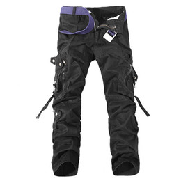Wholesale Mens Camouflage Combat Trousers - New Mens Casual Military Army Cargo Camo Combat Trousers Work Pants Trousers Camouflage Tactical Military Clothing