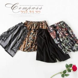 Wholesale Boxers Size S - Wholesale-Silk Sleep Bottoms Lounge Shorts Print Plus Size Boxers 100% Mulberry Silk Men Beach Pants Free Shipping