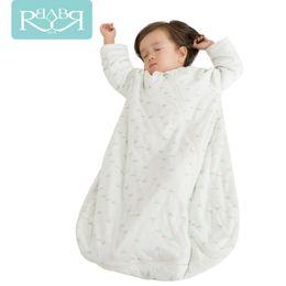 Wholesale Christmas Goose - Wholesale- Babyruler 2Colors Cotton Baby Children Soft Sleeping Bag Christmas Pajamas Oonesie Kids Super Thick In Winter Sleepsack Swaddle