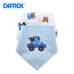 Wholesale- DANROL 2pc lot Cotton+TPU Baby Bibs Waterproof Feeding Napkins Burp Cloths Kerchief Bandana Bibs Baby Stuff DR0104 Coupons