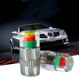 Wholesale Volvo Car Kit - 4PCS Car Auto Tire Pressure Monitor Valve Stem Caps Change color Sensor Indicator Eye Alert Diagnostic Tools Kit