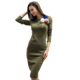 Wholesale Sweater Robe - Women Fall Winter Sweater Dress Print Ice Cream Long Sleeve Slim Maxi Dresses Sexy Party Bodycon Vestidos Robe Casuales de Mujer