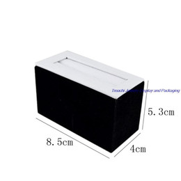 Wholesale Wholesale Wooden Couple - Fine Jewelry Display Promotion Multi Use Couple Ring Holder Bracelet Display Stand Case in White PU with Black Velvet