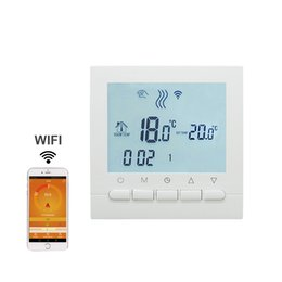 Wholesale Household Thermostat - Programmable Room Heating Boiler WIFI Thermostat Digital Temperature Controls Regulator Wifi Control Thermostat for Gas Boilers