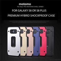 2019 nueva motomo samsung 2017 Nueva Doble Capa de TPU Híbrido de Metal Motomo Caso a prueba de golpes Cubiertas Traseras para Samsung Galaxy S8 S8plus S7 S7 Edge J3 J5 J7 2017 nueva motomo samsung baratos