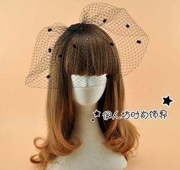 Argentina Negro Retro Audrey Hepburn accesorios para el cabello nupcial Birdcage boda del velo lindo Dot accesorios nupciales al por mayor cheap dot veil Suministro