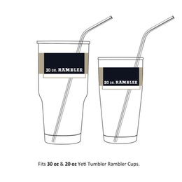 Wholesale Stainless Steel Straws Durable Reusable Metal inch Extra Long Bend Drinking Straws for OZ Tervis Cups