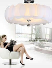 Wholesale Lotus Ceiling Lamp - Lotus Glass Ceiling modern and simple E27 bulb. Round pumpkin study lamp bedroom lamp living room lights