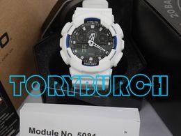 Wholesale analog set - High quality relogio G*100 full set men's sports watches, Luxury brand men watch LED chronograph wristwatch, military watch, digital watch
