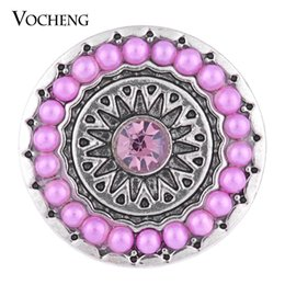 Wholesale NOOSA mm Snap Charms Sprouting Flower Round Bead Snap Colors Lovely Button VOCHENG Vn