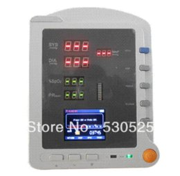 Wholesale Vital Signs Monitor Spo2 - *Free Shipping* New Contec CMS5100 Patient Monitor ,Brand New Vital Signs Monitor, NIBP+SpO2+PR monitor audio monitor 7
