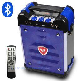 Wholesale High Power Led Lantern - Wholesale- New 2017 K6 High-Power Hi-Fi Portable Bluetooth Speaker Subwoofer Supports USB Disks And Microphone Has FM Radio LED Lantern