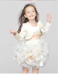 Wholesale Cape Jackets For Kids - 2016 New Princess Little Girls Pageant Capes For Girls and Girls Jackets with Flower Kids Accessories For Wedding L1540