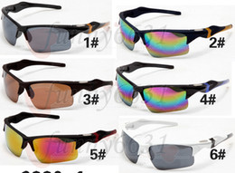 Wholesale Titanium Sports Price - 2017 New Arrival Hot Sale Factory Price 6 colors big sunglasses sports cycling sunglasses fashion colour mirror Brand Sunglasses men