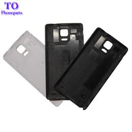 casi di note4 Sconti Copertura della batteria dell'OEM di DHL 100PCS per la cassa posteriore della copertura posteriore dell'alloggiamento della batteria di Samsung Note 4 Note4 N910 N910F