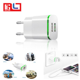 Wholesale Usb Wall Charger Cellphone - Shenzhen wholesale 2.1A dual ports dock chargers USB travel wall universal cellphone charger for all smart phone