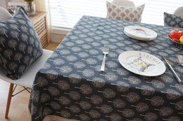 Wholesale Black White Tablecloth Cotton - tree printed tablecloth cotton & linen made christmas dinner table decoration country style table cover clothing Xmas white and black color