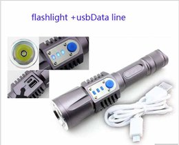 Wholesale Lowest Led Mobiles - CREE XML L2 T6 Flashlight Torch USB charge 5modes mobile power 18650 battery Intelligent flashlight 2000 lumens Torch light