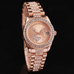 Wholesale gold inlay jewelry - Hot Sale Women Watches Ladies Fashion Dress Watch Rhinestone Diamond inlay Clock dial woman Quartz Watches High quality new Watches