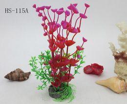 Plantas artificiais de peixe on-line-Aquários quentes Impressionante Plástico Artificial De Plástico Tanque De Peixes Aquário Planta De Água Decoração