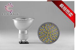 DHL / FedEX frete grátis 50 pcs De Alumínio LEVOU SMD Holofotes 220 V GU10 2835 7 W LED lâmpadas de milho luz quente branco de Fornecedores de tipos de conectores 12v