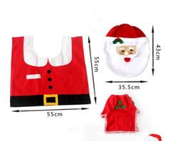 Wholesale Fancy Rugs - 2016 Fancy Santa Toilet Seat Cover and Rug Bathroom Set Contour Rug Christmas Decorations For Natal Navidad Decoracion