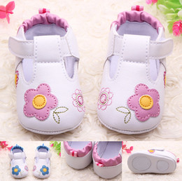 Wholesale Shoes First Steps - Wholesale- Fashion embroidery shoes first step neonatal soft soles baby bed shoes baby girl princess shoes