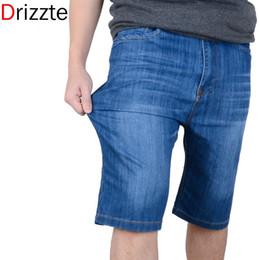 Wholesale Cotton Trousers Shorts For Men - Drizzte Brand Summer Men Short Jean Plus Large Size Blue Short Jeans for Men Man Short Pants Trouser