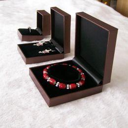 Wholesale Fine Sponge - Wholesale 4type*25pcs High Quality Brand Sponge Velvet Fine Jewellery Gift Packaging Ring Bracelet Necklace Pendant Boxes