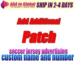 Wholesale Additional Patch add the price add soccer jersey Advertising custom print number name