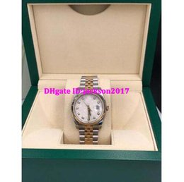 Wholesale White Dial Automatic Watch - Christmas gift Luxury mens watches wristwatch Original box certificate 116233 Jubilee Diamond Dial 18K Yellow Gold 36mm Stainless Steel Z S