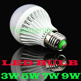 taches blanches en plastique Promotion AMPOULE LED lumière intérieure PLASTIC 3w 5w 7w 9w e27 AC85-265V led spot ampoule lampes Ture blanc chaud blanc