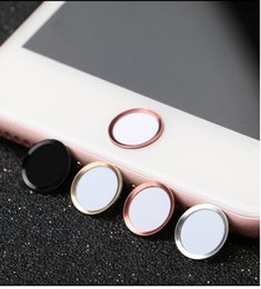 Wholesale Iphone Aluminum Button - Finger Identification Touch ID Home Button Sticker Aluminum Ring for iPhone 7   7 Plus   6s 6 plus  5s 5, With retail package