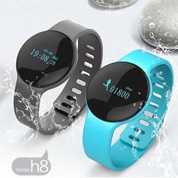 Wholesale Orange Tester - Health Bluetooth 4.0 H8 Smart Bracelet Fitness Sport Tester Watches Pulsera Actividad For Phone Sleep Tracker Wristband phone calls reminder