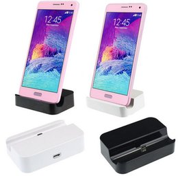 Wholesale Dock Station Galaxy S3 - Desktop Data Sync Charging Cradle Dock stand Station Charging Sync Cradle for samsung Galaxy S3 S4 S5 Note3 for iphone5 6