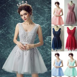 Wholesale fairy gowns - Vestidos De Feista 2017 Fairy Short Cocktail Homecoming Dresses Backless Lace Tulle A Line Special Occasion Party Wear Gowns Cheap CPS341