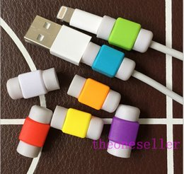 Wholesale Ipad Charging Case - Hot Sell 3.5mm charging data line protector sets Earphone date line protector For iphone ipad cable line lightning Saver Cover Case