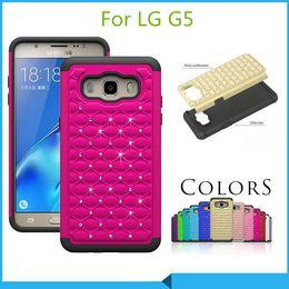 Wholesale Lg Optimus White - For LG G5 K10 Optimus Zone 3 Stylus 2 ls775 stylo 2 plus MS550 Bling Diamond Starry Rubber Hybrid Armor rhinestone Case cover