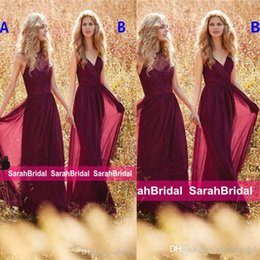 Wholesale Bridesmaids Dresses Different Styles - 2017 Bridal Party Wear Maxi Elegant Long Boho Country Mismatched Different Styles Bridesmaid Dresses Cheap Special Occasion Gowns