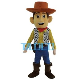 Wholesale Woody Costumes - Wholesale-Cowboy Woody Mascot Costume Toy Story Sheriff Woody Fancy Dress Free Shipping