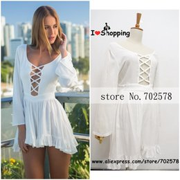Wholesale Sexy Cut Out Skirts - Wholesale-Summer Style White Jumpsuit Women Skirt Shorts Casual Hot Pants Cut Out Sexy Resort Wear monos mujer macacao feminino Playsuit